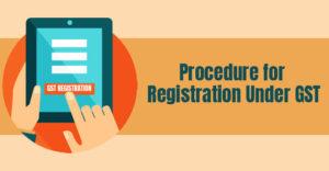registration under GST