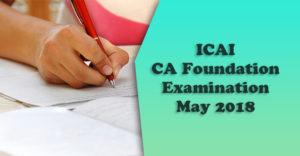 ICAI-CA-Foundation-Examination-May-2018