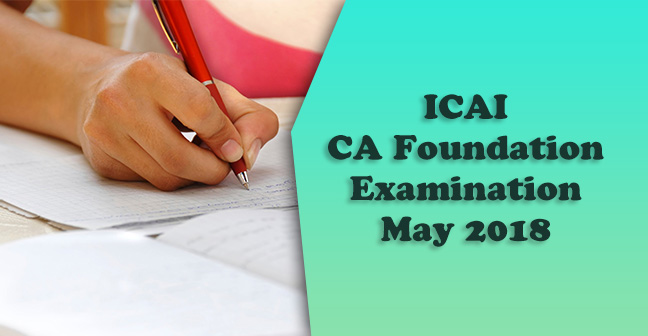 ICAI-CA-Foundation-Examination-May-2018