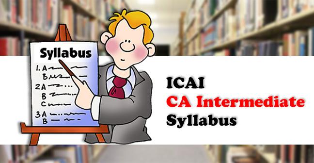 ICAI-CA-Intermediate-Syllabus
