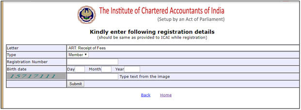 ca intermediate registration status window