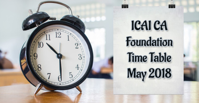 ICAI-CA-foundation-time-table-may-2018