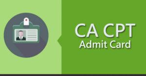 ICAI CA CPT Admit Card