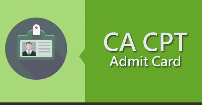 ICAI CA CPT Admit Card