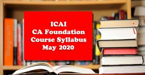ICAI-CA-Foundation-Course-Syllabus-May-2020