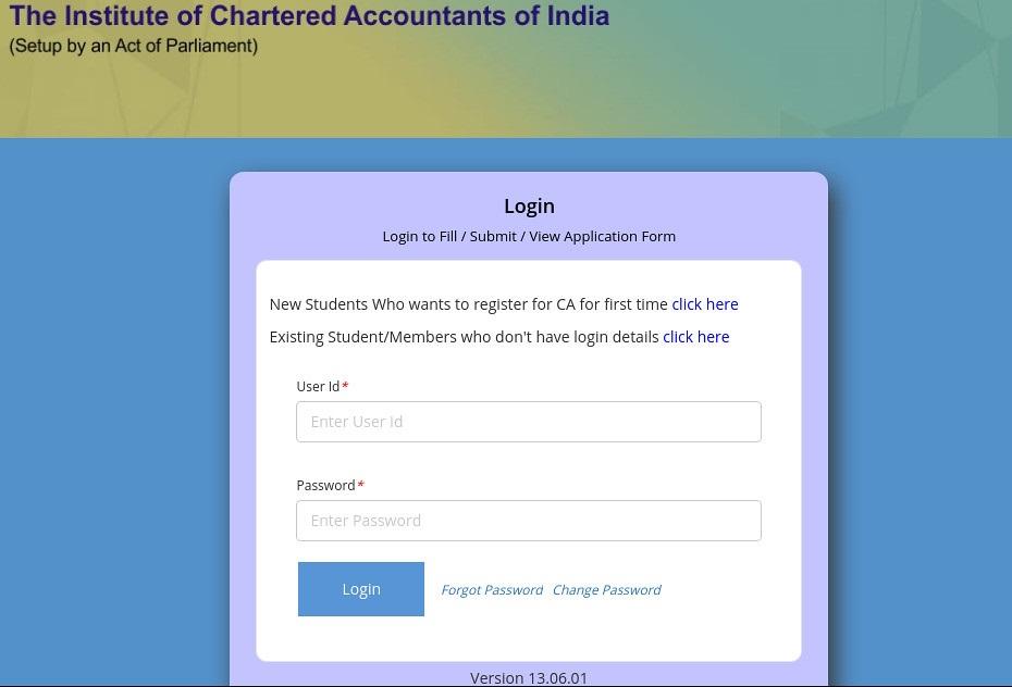 CA Foundation Registeration