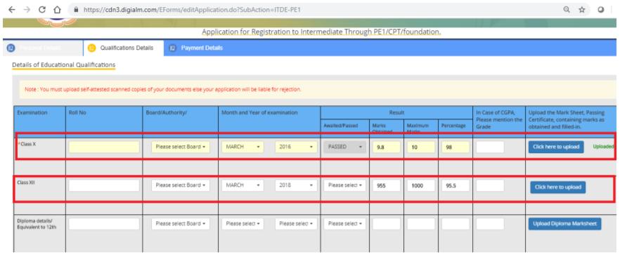 CA Intermediate Registration Form- Step 5