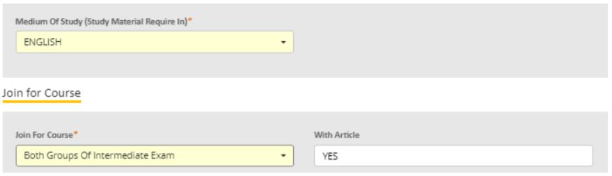 CA Intermediate Registration Form- Step 6