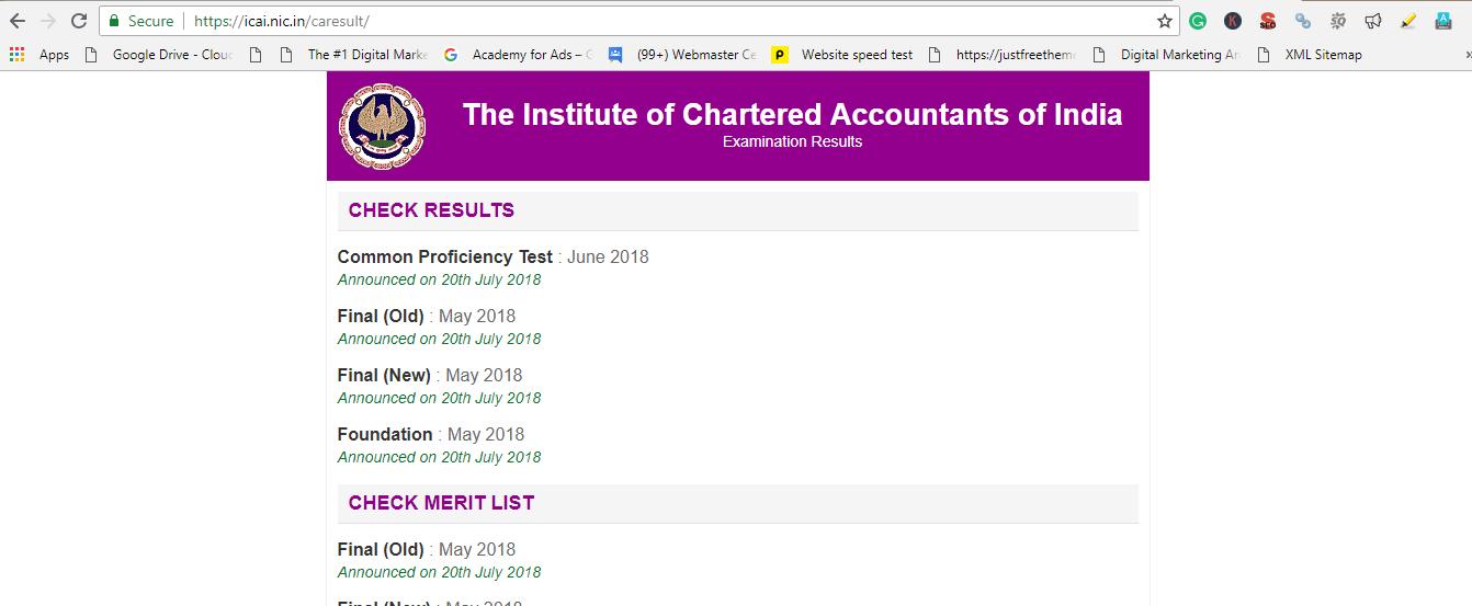 ICAI CA cpt result june 2019
