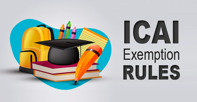 ICAI-Exemption-Rules
