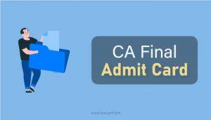 CA Final Admit Card