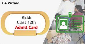 rbse 12th admit card