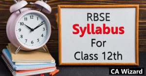 RBSE Syllabus For Class 12th 2019
