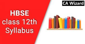 hbse syllabus for class 12th 2018-19
