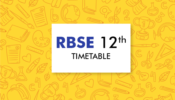 RBSE 12th Timetable