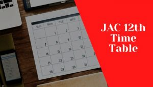 Jac 12th time table 2020