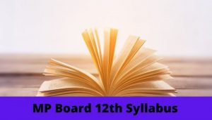 MP Board 12th Syllabus PDF Download