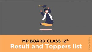 MP Board Class 12th Toppers list - MPBSE Result