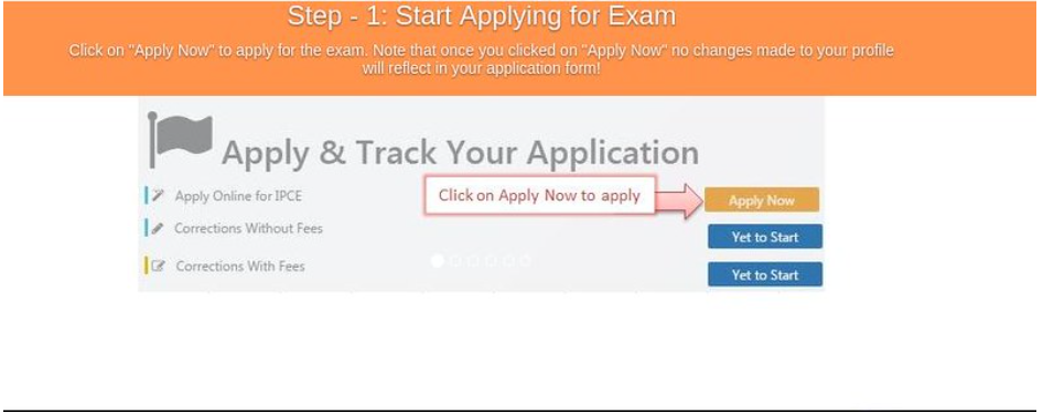 CA Intermediate application form process