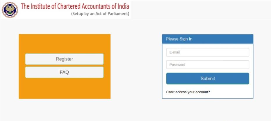 Check CA Foundation result through e-sahayta