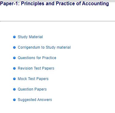 ICAI CA Foundation Study material PDF