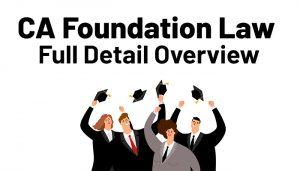 CA foundation Law