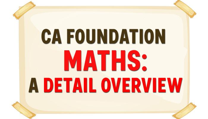 CA Foundation maths