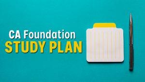 CA Foundation study plan