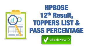 Hp Bose Class 12th Result and toppers