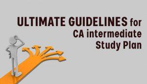 CA Intermediate study plan