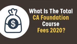 CA Foundation Fees