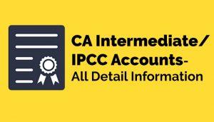 CA Intermediate/IPCC Accounts
