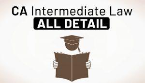CA Intermediate law
