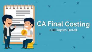 CA Final Costing