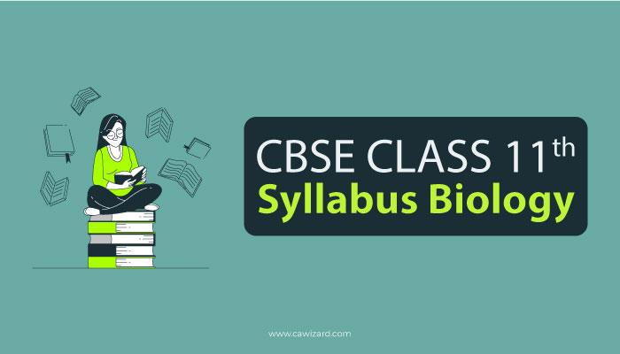 Class 11 Syllabus Biology